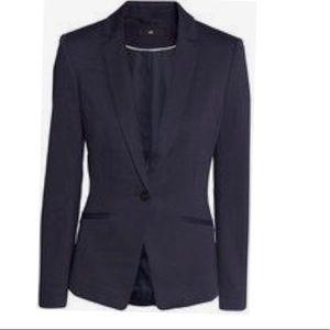 H&M Dark Blue Jersey Blazer Size 2